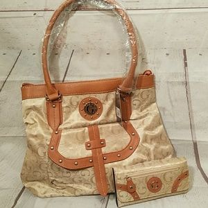 G Style Handbag with Wallet